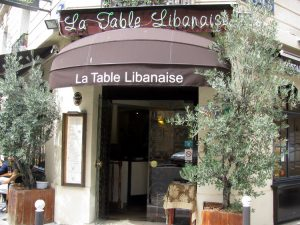 L'entrée de La Table Libanaise