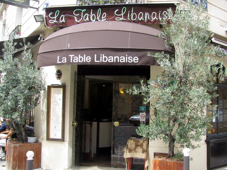 L'entrée de La Table Libanaise